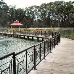 Boardwalk over river at Pinnaroo, Western Australia
